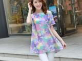 韩版孕妇装一件代发时尚大码夏款孕妇连衣裙印花休闲连衣裙YJ9023