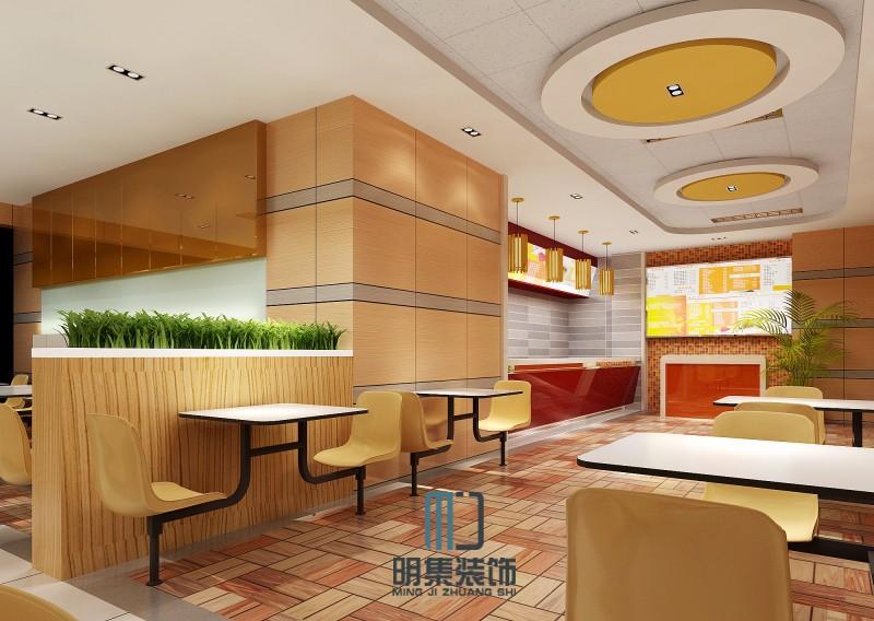 静安区餐厅装修设计公司 火锅店快餐店中式快餐酒店装修设计