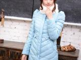 反季2013秋冬女装新款显瘦兔毛领羽绒服中长款韩版修身潮特价