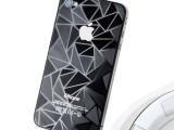 手机贴膜 iphone5 4 4s  高清 磨砂 钻石 3D菱形