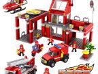 乐高式积木消防大队模型拼插启蒙益智3-6周拼装玩具男孩儿童玩具