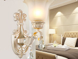 欧式壁灯 卧室床头壁灯 简欧客厅电视背景墙壁灯楼梯过道水晶灯具