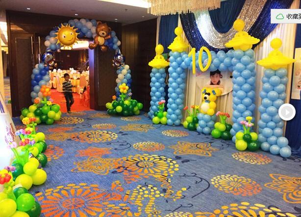 北京专业气球装饰 六一儿童节气球装饰布置 生日派对气球