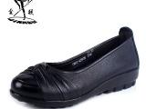 金猴皮鞋 正品头层牛皮舒适真皮新款贴心礼物休闲妈妈鞋女单鞋