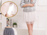 2015夏季时尚蓬蓬短裙 女士双层网纱半身裙
