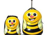 儿童旅行箱儿童拉杆箱可爱蜜蜂男女幼儿园书包背包卡通拉杆子母箱
