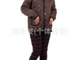 批发中老年棉衣 不倒绒加厚棉袄 冬装女式保暖衣  碎花棉袄