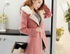冬天清仓价加棉加厚女装修身毛呢大衣中长款妮子外套呢子大衣