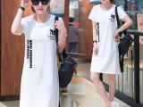 11元夏季韩版中长款女装夏装体恤短袖纯棉t恤女上衣打底衫夏