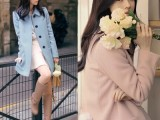 2014韩国milkcocoa甜美夹棉加厚显瘦大口袋毛呢子大衣外