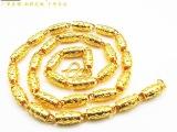 外贸饰品 镀真金回纹橄榄项链 黄铜镀金首