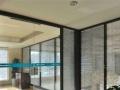 浦东做高隔间 感应门 石膏板隔墙 封窗 烤漆玻璃