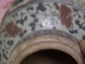元青花釉里红灯笼盖罐