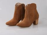 自有工厂承接订单一件代发DOLCE VITA真皮短靴中粗跟欧美马