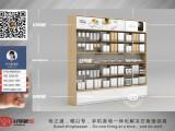 小米靠墙木纹配件柜定制厂家 木纹中岛体验台展桌价格
