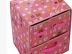 防水可擦洗二层三抽收纳盒 整理箱收纳柜2层3抽屉 折叠盒储物箱