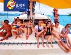 泰国普吉岛豪华双体帆船一日游蜜月岛自由行
