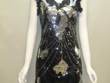特价清仓 加工生产连衣裙欧美亮片款派对上的焦点连衣裙定做