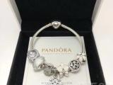 PANDORA潘多拉手链精工925纯银材质手镯手环