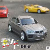 1:24儿童玩具车混批批发电动无线二通遥控车汽车模型宝马车260g