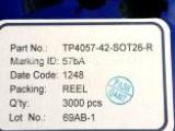 凯特瑞代理原装拓微TP4057蓝牙耳机音响专用锂电充电芯片