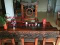 阳泉市老船木家具茶桌椅子沙发茶台茶几办公桌餐桌鱼缸置物架案台