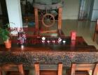钦州市老船木家具茶桌椅子沙发茶台茶几办公桌餐桌鱼缸置物架案台