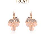 ROXI速卖通外贸畅销首饰耳饰批发奥地利水晶玫瑰金葡萄耳夹