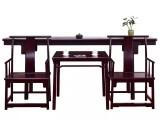 新中式茶桌椅餐桌椅办公桌椅实木茶台泡茶桌功夫茶台阳台小茶几