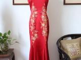 卿佩旗袍 手工绣花 中式婚庆礼服 中国风服装 婚嫁服