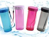 厂家直销 莹彩随心杯350ml水壶 便携塑料杯子 特百惠同款防漏