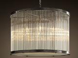豪华不锈钢酒店工程水晶吊灯 现代简约餐厅吊灯 中式现代吊灯