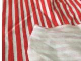 针织双面棉毛 条纹T恤 纯棉棉毛 库存批发