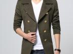 都敏俊来自星星的你同款男式毛呢大衣男 大翻领双排扣羊毛呢大衣