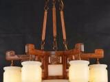 红木云石灯 红木玉石灯 红木灯饰灯具 刺猬紫檀红木吊灯