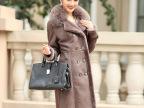 皮毛一体女冬外套 伊西圣兰欧美廓型简约皮大衣中长皮草女冬皮衣