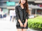 女式皮衣 2014秋冬新款韩版修身翻领PU皮短款女士外套 厂家直批