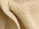 热销米黄人造羊羔绒棉花绒仿毛