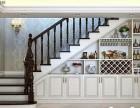 梯下带柜子的实木楼梯-乌鲁木齐怡达楼梯