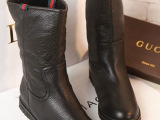 欧美奢华大牌G家真皮皮毛一体雪地靴真皮平底短靴支持一件代发