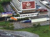 户外广告 深圳市皇岗口岸双面立柱广告牌