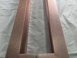 深圳厂家定做红古铜铝板雕刻拉手铝板雕刻拉手厂家屏风清晰效果图