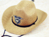 夏季太阳帽子沙滩帽 爆款西部牛仔遮阳时尚草帽男女帽批发