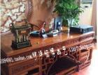 明清仿古大班桌实木大班台中式榫卯结构雕花书桌南榆木画桌画案