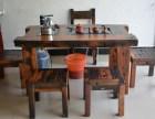 厂家直销 老船木个性功夫茶桌 休闲实木茶桌泡茶桌椅组合