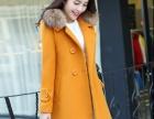 新款毛呢外套中长款韩国收腰百搭呢子大衣妮子