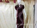 嫁衣娃娃 长款传统旗袍改良休闲款旗袍裙