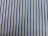 竹纤维蓝色细条衬衫面料