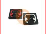 硅胶耳机孔胶章厂家 定做十字型硅胶胶章 东莞耳机孔硅胶胶章厂家