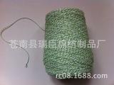 常年供应 10支3*3绿白棉绳 彩色吊牌绳 彩色松紧绳 鞋业辅料